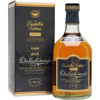 70cl / 43% / Distillery Bottling - The 1998 vintage of Dalwhinnie Distillers Edition, bottled in 2015. Each distillery's 'DE' is finished in a different wood � Dalwhinnie's uses oloroso-sherry casks, resulting in an added layer of rich fruit.