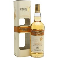 70cl / 46% / Gordon & MacPhail - A 2001 vintage Dalmore under the Connoisseurs Choice label of independent bottler Gordon & MacPhail.  The distillery gained notoriety in 2002 when a 62 year old release became the most expensive bottle of whisky sold up to that point, at just over �25,000.