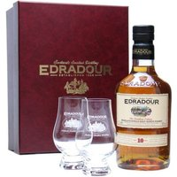 Edradour 10 Year Old Glass Pack Highland Single Malt Scotch Whisky