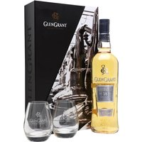 Glen Grant 18 Year Old + 2 Glasses Pack Speyside Whisky