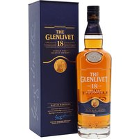 70cl / 43% / Distillery Bottling - A malt whisky of unmistakable honey-rich maturity and depth. Glenlivet 18yo is the winner of two Gold medals in the International Wine and Spirit Competition (IWSC) and remains one of the best-value expressions of sherried Speyside.
