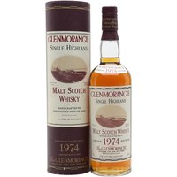 Glenmorangie 1974 / Bot.1998 Highland Single Malt Scotch Whisky