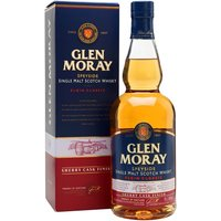 70cl / 40% / Distillery Bottling - This edition of Glen Moray has been finished for eight months in sherry casks. This has added subtle notes of dark chocolate, orange and dried fruit to the distillery's classic light-bodied spirit.