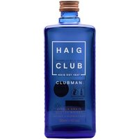 70cl / 40% / Distillery Bottling - The second release from the brand part-owned by David Beckham, Haig Club Clubman is the entry-level bottling. Aged entirely in bourbon casks which give sweetness as well as enticing vanilla and coconut notes, this is a superb alternative to Jack Daniel's with cola.
