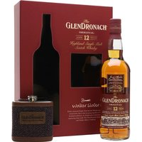 Glendronach 12 Year Old / Hip Flask Gift Set Highland Whisky