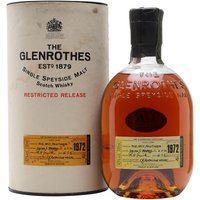 Glenrothes 1972 / 24 Year Old Speyside Single Malt Scotch Whisky