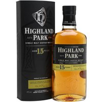 70cl / 40% / Distillery Bottling - The 2016 re-release of the much-missed Highland Park 15 Year Old. Aged in sherry casks, this is rich and initially sweet before a dry smokiness comes to the fore.