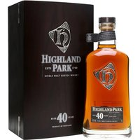 70cl / 48.3% / Distillery Bottling - An outstanding Highland Park, bottled at a remarkable 40 years old.  They've done a good job on the presentation, too - extremely heavy box with proper hinges and magnetic closure, with a leather-bound booklet inside extolling the virtues of distillery and dram.