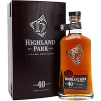 70cl / 47.5% / Distillery Bottling - An outstanding Highland Park, bottled at a remarkable 40 years old. They've done a good job on the presentation, too - extremely heavy box with proper hinges and magnetic closure, with a leather-bound booklet inside extolling the virtues of distillery and dram.