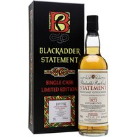 70cl / 41.9% / Blackadder  - This incredibly long-aged Ladyburn was distilled at the Lowland distillery in 1973. Bottled at 43 years of age, this is a highly sought after bottling, as the distillery has long been closed.