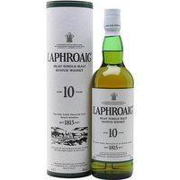 70cl / 40% / Distillery Bottling - Laphroaig 10yo is a full-bodied, smoky gem, with a residual sweetness and a hint of salt amid the seaweedy, peaty characters before a long warming finish. A classic dram.