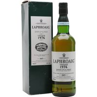 75cl / 43% / Distillery Bottling - A 1976 vintage Laphroaig, bottled by the distillery.  Bottled around the turn of the millennium and thus over 20 years old, this received an impressive average of 92 points from 12 of the Malt Maniacs.