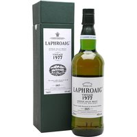 75cl / 43% / Distillery Bottling - A rare and highly sought-after Laphroaig from the 1977 bottled in the spring of 1995.  This bottle has a very good reputation and is extremely hard to find these days.