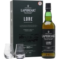 Laphroaig Lore / 2 Glass Pack Islay Single Malt Scotch Whisky
