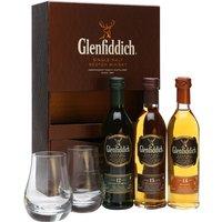 Glenfiddich Miniature 3-pk & 2 Glasses / 3x10cl Speyside Whisky