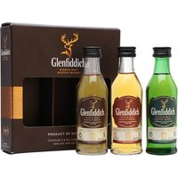 Glenfiddich Mini Pack / 12 Year Old, 15 Year Old & 18 Year Old Miniature Speyside Whisky