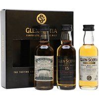 15cl / 47.8% - This gift set from Glen Scotia contains one miniature each of Double Cask, Victoriana and 15 Year Old. A great way to discover the range of this lesser-known Campbeltown distillery.