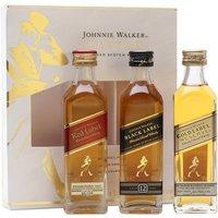Johnnie Walker Taster Pack (Red/Black/Gold) Blended Scotch Whisky