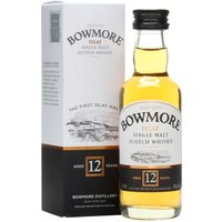 5cl / 40% / Distillery Bottling - A mini bottle of Bowmore's 12 year old.  A medium peated malt from Islay, this also has notes of pepper to balance the iodine notes. A delightful introduction to Islay malts.