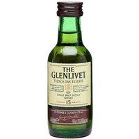 Glenlivet 15 Year Old French Oak Reserve / Miniature Speyside Whisky