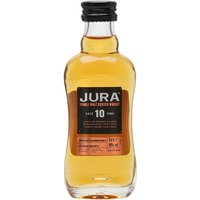 5cl / 40% / Distillery Bottling - A miniature bottle of Isle of Jura 10yo � an accessible, easy-drinking malt. Medium-bodied with a delicate sweet palate, with a hint of brine developing on the finish. A great introductory malt.