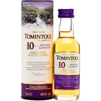 5cl / 40% / Distillery Bottling - A miniature bottle of the soft, gentle Speyside single malt from the Tomintoul distillery.