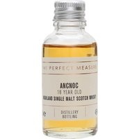 3cl / 46% / The Perfect Measure - Aged in a combination of refill-bourbon and oloroso-sherry casks, AnCnoc 18yo is a sweet and aromatic example of Highland whisky.