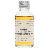 3cl / 43% / The Perfect Measure - The 17-year-old expression of Balvenie DoubleWood, finished in sherry casks. Rich and warming with extra spice from the second maturation and notes of vanilla and honey.