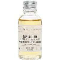 3cl / 47.8% / The Perfect Measure - The 25-year-old offering from Balvenie as part of the Single Barrel series. Matured in 'traditional' casks, this is sweet and subtly spicy with notes of honey.