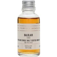 3cl / 46% / The Perfect Measure - The second release of 1990 vintage whisky from Balblair. Finished in oloroso-sherry butts for two years, this is fruity and honeyed with a spicy finish.