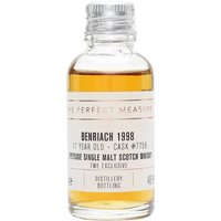 3cl / 48.9% / The Perfect Measure - A 1998 Benriach exclusive to The Whisky Exchange, distilled three times and finished in a Pedro-Ximenez-sherry puncheon. Delicately sweet with notes of coffee and dark chocolate.