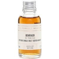3cl / 42.5% / The Perfect Measure - Benriach 35 Year Old was introduced in 2014 as a replacement for the 30 Year Old, and contains malt from the 1970s, a time when the distillery was owned by Glenlivet. A sweet and spicy whisky, and a classic example of aged Speyside.