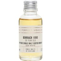 3cl / 50.2% / The Perfect Measure - This 26-year-old whisky from Benriach was distilled in 1990 and aged in a single barrel. Rich and sweet with notes of orange, strawberry, vanilla and toffee.