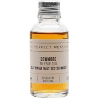 3cl / 43% / The Perfect Measure - A superb value-for-money 18 year old, Bowmore's offering is fresh and peated with notes of coal smoke and salty kippers.