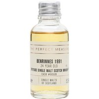 3cl / 52.6% / The Perfect Measure - Distilled at Benrinnes in 1991, this is a single cask release from The Single Malts of Scotland. Lively and fruity with notes of lemon, tobacco, dark chocolate and espresso.