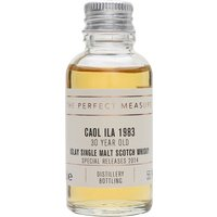 3cl / 55.1% / The Perfect Measure - The highlight of Diageo's 2014 Special Releases, this 1983 Caol Ila has been aged for 30 years. The palate combines the waxiness of Brora with a chamois-leather note more familiar with Port Ellen. A stunner.