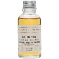 3cl / 48.1% / The Perfect Measure - Exclusive to The Whisky Exchange, this 1983 Caol Ila was aged in a hogshead for 31 years. Creamy and gently smoky with notes of tropical fruit and honey.