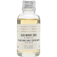 3cl / 59.1% / The Perfect Measure - A single bourbon barrel of Glen Moray from Speyside. Distilled in 2007 and aged for eight years, this is fruity and gently spicy.