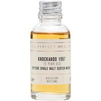 3cl / 43% / The Perfect Measure - This 15-year-old whisky from Knockando was distilled in 1997. Aged in a combination of sherry and refill-bourbon cask, this has notes of vanilla, coconut, dark chocolate and orange.