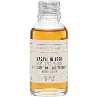 3cl / 43% / The Perfect Measure - Lagavulin�s Distillers Edition is always hugely popular, and rightly so. It is double-matured, spending time in sticky-sweet Pedro Xim�nez sherry casks, adding a complex richness. This is the 1998 vintage bottling.