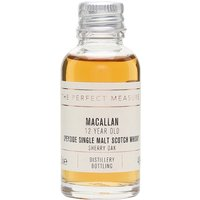 3cl / 40% / The Perfect Measure - Classic Macallan displaying all that sherried richness that whisky fans crave. This particular bottling was aged for a dozen years and was described by top whisky writer F Paul Pacult as �simply the best 12 Year Old single malt around�.