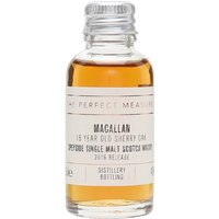 3cl / 43% / The Perfect Measure - This 2016 release of the popular 18 Year Old Sherry Oak from The Macallan is matured exclusively in sherry seasoned casks, built from both Spanish and American oak giving a beautifully dark flavour with rich aromas.