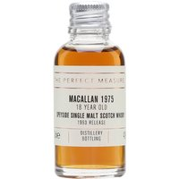 Macallan 1975 Sample / 18 Year Old Speyside Single Malt Scotch Whisky
