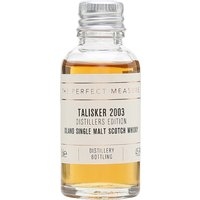 3cl / 45.8% / The Perfect Measure - The Talisker release in Diageo's Distillers Edition series is finished in oloroso-sherry casks, adding sweetness and fruit to the coastal notes.