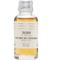 3cl / 45.8% / The Perfect Measure - Talisker 25 Year Old is a perfect example of iron-fist-velvet-glove whisky. Coastal and slightly sweet with notes of pepper and toast.