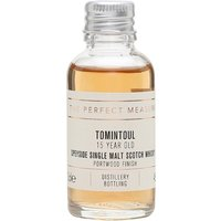 3cl / 46% / The Perfect Measure - A limited release that sees Tomintoul increase the age of its Portwood finish from 12 to 15 years. This is a full-bodied dram with red-fruit notes. Approachable but complex.