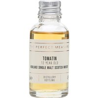 3cl / 43% / The Perfect Measure - Tomatin's 12 Year Old is aged in a combination of bourbon and sherry casks. this is sweet with notes of grass, lemon and orange peel.
