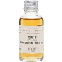 3cl / 46% / The Perfect Measure - Fans of sherry-cask-matured whisky will love this. Tomatin 18 is finished in oloroso sherry butts, adding a rich layer of fruit and soft spice, along with notes of citrus and dark chocolate. The ideal after-dinner dram.