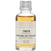 3cl / 46% / The Perfect Measure - A malty Tomatin aged for 36 years in a mixture of bourbon and first-fill oloroso-sherry asks. This is spicy with notes of vanilla, cardamom and clove.