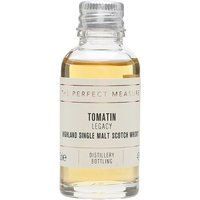 3cl / 43% / The Perfect Measure - Legacy is a no-age-statement whisky from Tomatin aged in a combination of virgin-oak casks and bourbon barrels. This has notes of lemon, marshmallow, vanilla and pineapple.